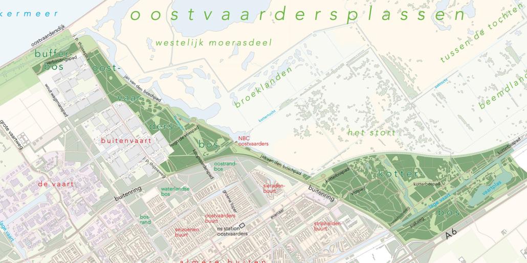 stedenbouw en landschap Bureau Nieuwe Gracht Utrecht Uitwerkingsplan Almeersepoort gemeente Almere Staatsbosbeheer Stad & Natuur Almere Almeersepoort Oostvaardersplassen Flevoland