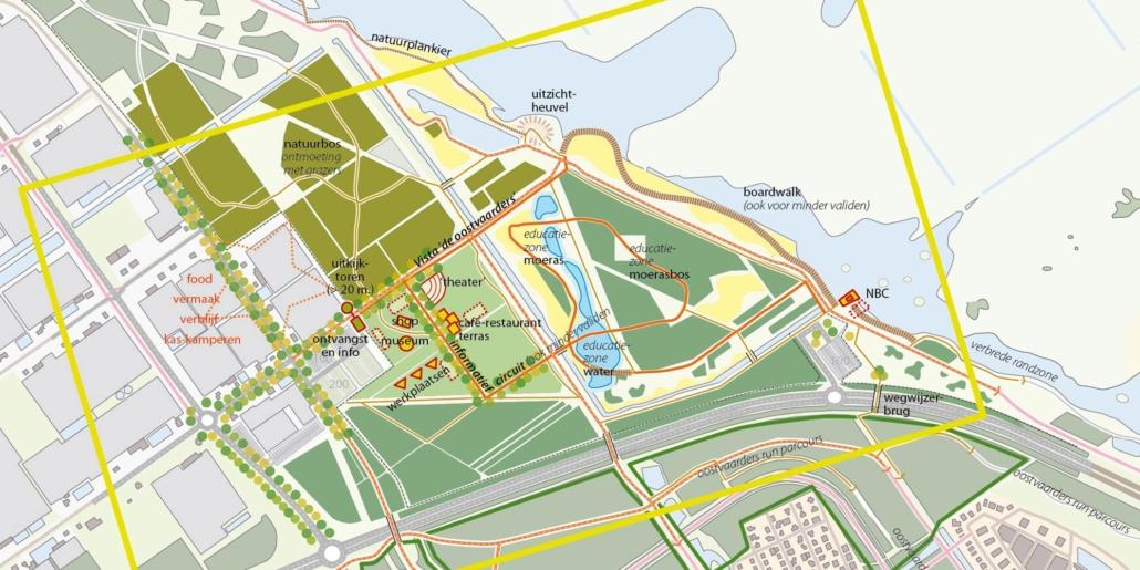 stedenbouw en landschap Bureau Nieuwe Gracht Utrecht ontwikkelingsvisie Almeersepoort gemeente Almere Staatsbosbeheer Stad & Natuur Almere Almeersepoort Oostvaardersplassen Flevoland