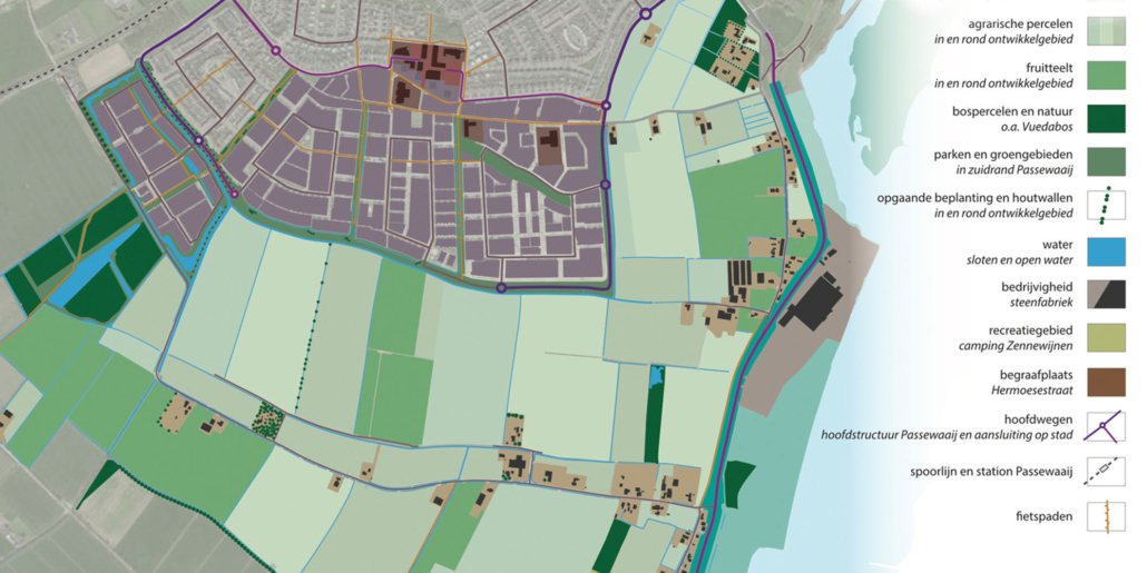 stedenbouw en landschap Bureau Nieuwe Gracht Utrecht Masterplan Uitbreiding Passewaaij gemeente Tiel